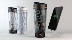 可以自动搅拌的杯子 还能给手机充电
